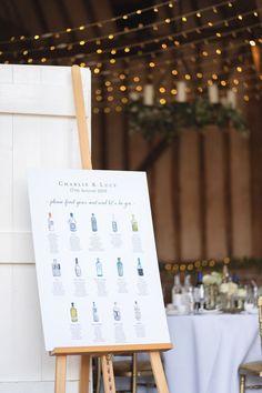 Lucy & Charlie wedding stationary  - Gin themed wedding table - Lillibrooke Manor, Berkshire - Ellie Mac Photography Wedding Table Themes, Wedding Decorations, Wedding Ideas, Ellie And Mac, Flower Room, Seating Plans, Wedding Breakfast, Event Dresses, Wedding Stationary