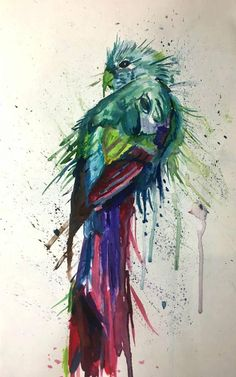 This Watercolour ORIGINAL paint splatter bird parrot abstract is just one of the custom, handmade pieces you'll find in our watercolor shops. Parrots Art, Animal Art, Surreal Art, Fine Art Painting, Original Fine Art, Painting, Art, Abstract, Paint Splatter