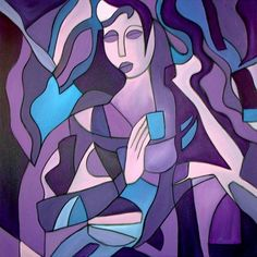 Princess For a Day - Cubist 15 - by Thomas C. Fedro from Contemporary Cubism Art Gallery Cubism Art, Artist Portfolio, Colorful Wallpaper, Love Art, Abstract Art, Art Gallery, Aurora Sleeping Beauty, Artwork, Prints