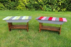 Ana-White.com | Build a Reclaimed Wood Top Benches | Free and Easy DIY Project and Furniture Plans
