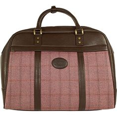 Dee Two British Tweed Heather Holdall Country Cognac The Country Cognac range of handbags and accessories combines the luxury of leather with the