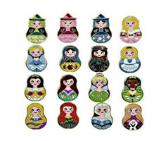 Princess Nesting Dolls Disney Pins!!
