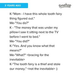 The time my youngest figured out the tooth fairy. #tbt #thief