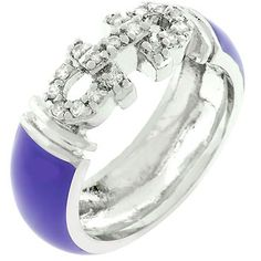 White Gold Rhodium Bonded Purple Enamel Overlay Eternity Ring with a Mini Pave CZ Design in Silvertone. Purple Enamel Bling Ring is where substance meets style. Cubic Zirconia Rings, Eternity Bands, White Gold Rings, Fashion Rings, Jewelery, Jewelry Rings, Gemstone Rings, Wedding Rings, Engagement Rings