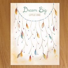 Gold Dreamcatcher Thumbprint Guestbook | Hand-Painted Life