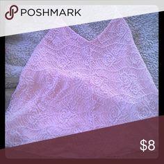 Baby Pink Crochet Halter Top Crochet Halter top Mudd Tops Camisoles