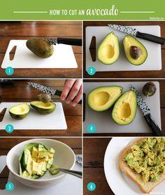 How to peel avacado
