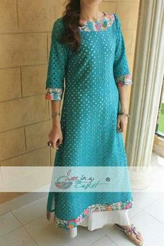 Embroidered or printed strip for a chikankari dress