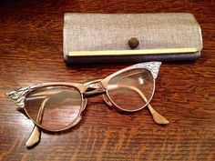"Vintage 1950s Victory ""cat eye"" eyeglasses & case on Etsy, $52.50"