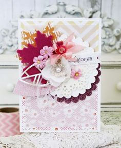 Thinking Of You Card by Melissa Phillips for Papertrey Ink (October 2015)