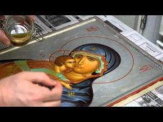 Olifa application - YouTube Painting Videos, Painting Techniques, Roman Church, Gold Work, Christianity, Youtube, Drawings, Byzantine Art, Catholic Art