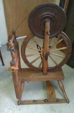 Antique Irish Spinning Wheel