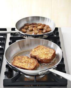 Want! - essential . . . All-Clad d5 Stainless-Steel French Skillets #WilliamsSonoma