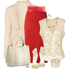 Coral & Old Lace, created by myfavoritethings-mimi on Polyvore