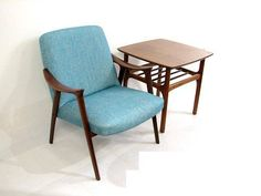 Adolf Relling Rolf Rastad Danish Rosewood Lounge Chair in Blue | eBay