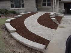 A Paver Ramp was an addition to Give Easy Access to the Front Porch for the Homeowner. A beautiful landscaping feature instead of traditional wood or metal ramps.