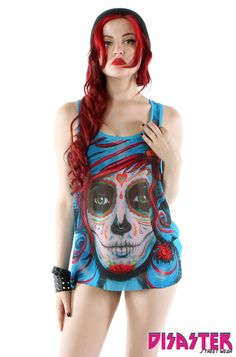 Iron Fist Ladies ❤ Ship Wrecker Tank in Teal Shirts & Tops, Tank Tops, Gothic Fashion, Girl Fashion, Shops, Iron Fist, Dress Me Up, Latest Fashion For Women, Lady