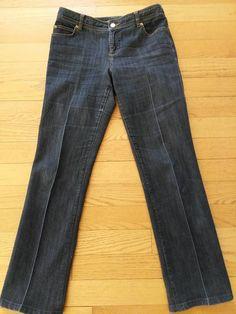 081bd15b4ec Michael Kors Medium Wash Button Zipper Closure Boot Cut Jeans Women s Size  12  MichaelKors