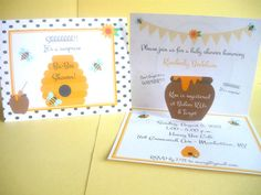 Bumble Bee Invitation bee invitation by TresChicPartyDesigns