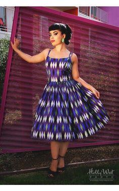 Harlequin Jenny Dress in Purple