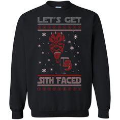 Christmas Ugly Sweater Sith Faced Hoodies Sweatshirts