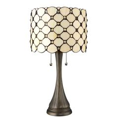 Serena D'italia Tiffany Style Table Lamps Contemporary, Diamond Pattern Stained Glass Lamp with Jewels, Standing Lamp with Double Pull Chain (White) Stained Glass Lamp Shades, Tiffany Style Table Lamps, Bronze Floor Lamp, Floor Lamps, Contemporary Table Lamps, Lamp Sets, Drum Shade, Creamy White, Desk Lamp