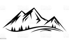 mountain outline graphic - Google Search Mountain Outline, Mountain View, Mountain Clipart, Outline Images, Cabin Signs, Symbols And Meanings, Travel Icon, Silhouette Vector, Clipart Images