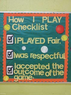 Use for games as a quick self - assessment. Tweak for PBIS wording