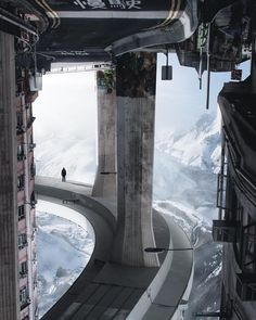 Step Out Of Your Comfort Zone: The Superb Creative And Dreamlike Photo Manipulations By Aaron Elliott Cyberpunk City, Futuristic City, Futuristic Architecture, Futuristic Interior, Sci Fi Fantasy, Fantasy World, Rpg Star Wars, Sci Fi Environment, Science Fiction Art