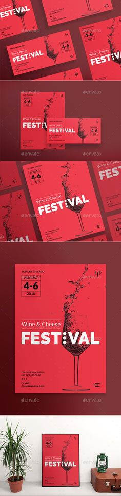 Wine Festival Flyers — Photoshop PSD #us #festival • Available here ➝ https://graphicriver.net/item/wine-festival-flyers/20903285?ref=pxcr