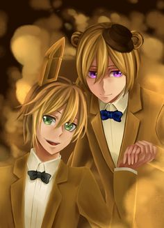 I don't want to get into a fight by posting this, but I ship Golden Freddy x Golden Bonnie/ Springtrap