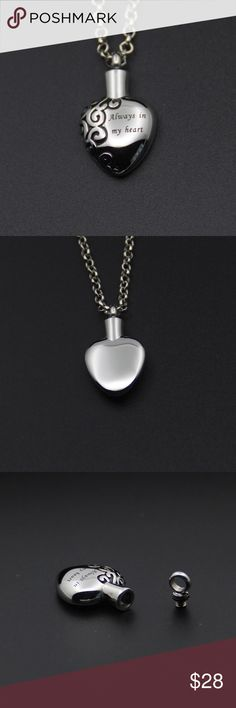 A New Cremation Urn a Heart Necklace A New Cremation Urn Heart Necklace Jewelry Necklaces