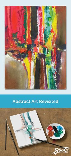 Explore the use of visual imagery through abstract painting. Lesson plan includes complete directions, objectives, correlation to National Core Arts Standards, grade levels and material list. Developed by our Sax Art Consultants. Art Club Projects, Painting Lessons, Painting Techniques, 8th Grade Art, Art N Craft, Art Lessons Elementary, Elements Of Art, Art Lesson Plans, Art Classroom