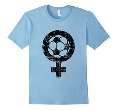 Female Soccer t-shirts for soccer women fans, women's soccer teams, sports and players. If you are interested in womens soccer, female soccer, ball, kickers, kicking, football, soccer women, ladies soccer teams, soccer jersey or jerseys, then these shirts might please you. The distressed imprint gives the shirts a nice 'used look' appearance.