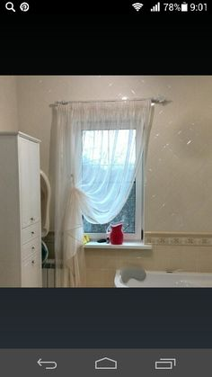 Доброе утро, дорогие подписчики. Кто бы из Вас повесил тюль в ванную комнату? #elenasilaeva #шторымосква #шторыдляванной