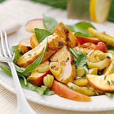 Glazed-Chicken Spinach Salad