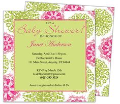 Baby Shower Invitations : Springtime Circles Printable DIY Shower Invitation Template