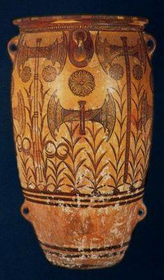 Minoan Art Pottery | Labrys pithos – 1500BC | Knossos Palace