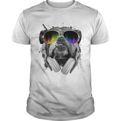 b24d8599 If you are a lover for Bulldog or your friend. This will be a great gift  for you or your friend: Musical Dog Bulldog DJ Tee Shirts T-Shirts. ANZ  STYLE