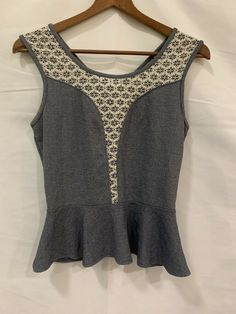 a910e7cfe84 Details about Women s Summer Floral Vest Sleeveless Short Blouse Lace Top  Tank Top Plus Sz 4XL. Paper Crane Navy Blue ...
