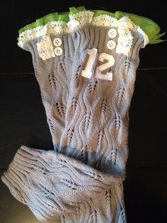 Seattle Seahawks Grey Leg Warmers 12th Man by Katesgraceclothing