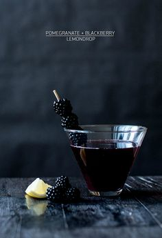 Modern Cocktail Photography from Apartment 34 (Pomegranate + Blackberry Lemondrop)