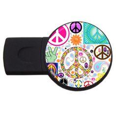 Peace+Collage+2GB+USB+Flash+Drive+(Round)+USB+Flash+Drive+Round+(2+GB)