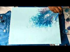 Pouring painting/Acrylique fluide abstract painting - YouTube
