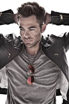 Dear God, thank you for Chris Pine.  Dear Santa, can you put him under my tree this year?!