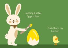 Customize the Funny Easter Egg Painting Brother Card template and make it match your brand!