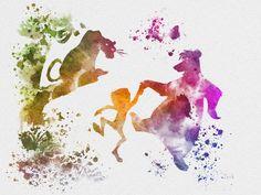 "The Jungle Book ART PRINT 10 x 8"" illustration, Disney, Mowgli, Baloo, Bagheera, Mixed Media, Home Decor, Nursery, Kid on Etsy, $12.99"