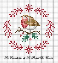 Christmas Robin (The Countess & Cross-Stitch), amp Christmas die DIYChristmas Countess .Christmas Robin (The Countess & Cross-Stitch), amp Christmas die DIYChristmas Countess Amigurumi Cute Dog Crochet Pattern Free - Páxina 3 de 3 Xmas Cross Stitch, Cross Stitch Cards, Cross Stitch Animals, Cross Stitching, Cross Stitch Embroidery, Embroidery Patterns, Hand Embroidery, Christmas Embroidery, Biscornu Cross Stitch