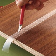 No more glue stains - use tape to catch excess glue