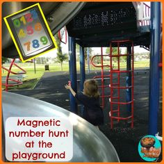 Magnetic Number Hunt at the Playground w